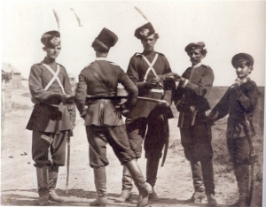 И.В.Болдырев. Казаки перед выходом на службу 1875-1876
