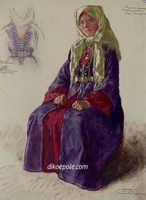Рис.18 Е.Е.Лансере. Казачка станицы Старогладковской Елена Тамазина. 1928 год.