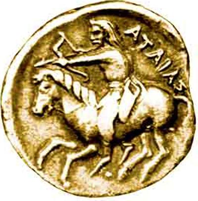 Скифия-Русь-монета-царя-Атея-Атаяса